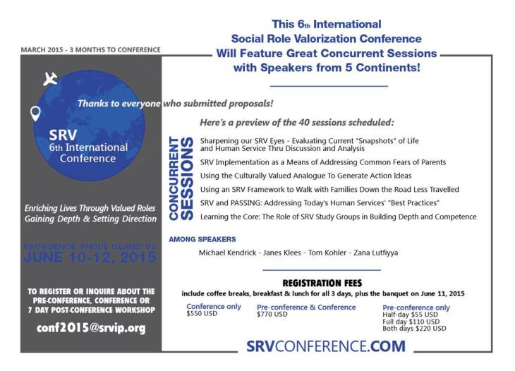 SRVconf March